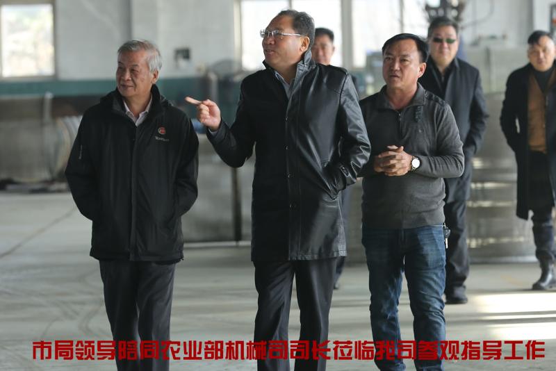 市局领导陪同农业部机械司司长参观公司
